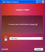Miro Video Converter screen