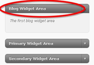 Widget Area image