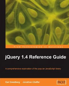 jQuery 1.4 Reference Guide cover